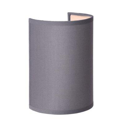 Светильник бра Lucide 61250/14/36 CORALсовременные бра модерн<br><br><br>S освещ. до, м2: 4<br>Тип лампы: накаливания / энергосбережения / LED-светодиодная<br>Тип цоколя: E14<br>Цвет арматуры: серебристый<br>Количество ламп: 1<br>Высота, мм: 200<br>Оттенок (цвет): серый<br>MAX мощность ламп, Вт: 60
