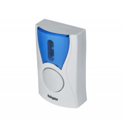 Беспроводной звонок Navigator 61 268 NDB-A-DC02-1V1-WHБеспроводные звонки<br>Звонок Navigator серии NDB современное беспроводное устройство подачи звукового и светового сигнала. Конструкция позволяет легко установить его в любом помещении или на загородном участке,быстро переместить при необходимости,настроить комфортную громкость и выбрать мелодию.<br>