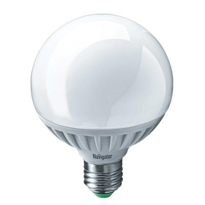 Лампа Navigator 61 279 NLL-G95-12-230-4K-E27Лампа e27<br><br><br>Цветовая t, К: 4000<br>Тип лампы: LED<br>Тип цоколя: E27<br>Диаметр, мм мм: 95<br>Высота, мм: 125<br>MAX мощность ламп, Вт: 12