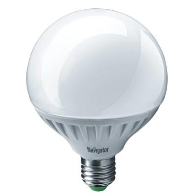Лампа Navigator 61 280 NLL-G105-18-230-4K-E27Лампа e27<br><br><br>Цветовая t, К: 4000<br>Тип лампы: LED<br>Тип цоколя: E27<br>Диаметр, мм мм: 105<br>Высота, мм: 140<br>MAX мощность ламп, Вт: 18