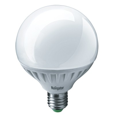 Лампа светодиодная шар 18Вт Navigator 61 280 NLL-G105-18-230-4K-E27Лампы с цоколем Е27<br><br><br>Цветовая t, К: 4000<br>Тип лампы: LED<br>Тип цоколя: E27<br>Диаметр, мм мм: 105<br>Высота, мм: 140<br>MAX мощность ламп, Вт: 18