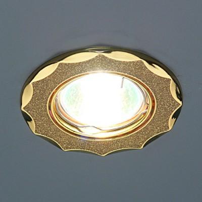 Точечный светильник Электростандарт 612A GD GD (золото блеск/золото)круглые точечные светильники<br>Лампа: MR16 G5.3 max 50 Вт Диаметр: ? 86 мм Высота внутренней части: ? 21 мм Высота внешней части: ? 4 мм Монтажное отверстие: ? 75 мм Гарантия: 2 года Светильник имеет поворотный механизм