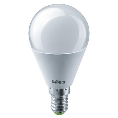 Лампа Navigator 61 333 NLL-G45-8.5-230-2.7K-E14Лампа e14<br><br><br>Цветовая t, К: 2700<br>Тип лампы: LED<br>Тип цоколя: E14<br>Диаметр, мм мм: 47<br>Высота, мм: 90<br>MAX мощность ламп, Вт: 8.5