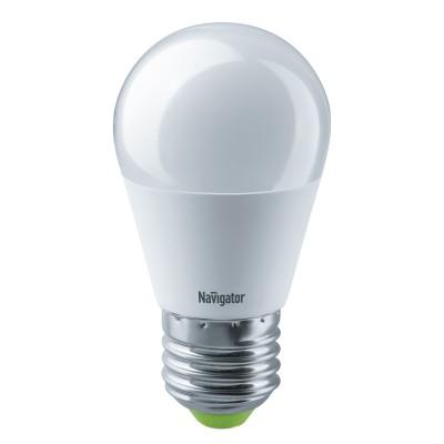 Лампа Navigator 61 336 NLL-G45-8.5-230-2.7K-E27Лампы с цоколем Е27<br><br><br>Цветовая t, К: 2700<br>Тип лампы: LED<br>Тип цоколя: E27<br>Диаметр, мм мм: 47<br>Высота, мм: 88<br>MAX мощность ламп, Вт: 8.5