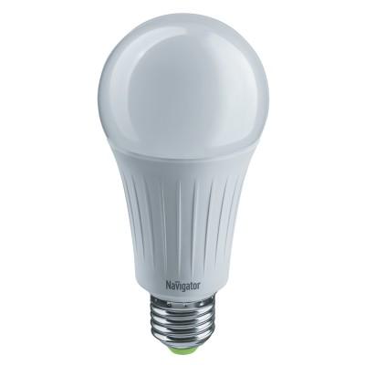 Лампа Navigator 61 387 NLL-A70-20-230-6.5K-E27Лампы с цоколем Е27<br><br><br>Цветовая t, К: 6500<br>Тип лампы: LED<br>Тип цоколя: E27<br>Диаметр, мм мм: 70<br>Высота, мм: 148<br>MAX мощность ламп, Вт: 20