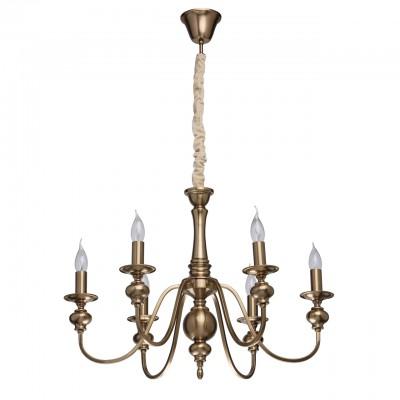 Mw light 614010506 СветильникПодвесные<br><br><br>S освещ. до, м2: 18<br>Тип лампы: Накаливания / энергосбережения / светодиодная<br>Тип цоколя: E14<br>Количество ламп: 6<br>MAX мощность ламп, Вт: 60<br>Диаметр, мм мм: 700<br>Высота, мм: 650 - 1000