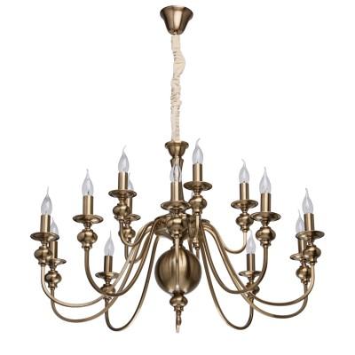 Mw light 614010715 СветильникПодвесные<br><br><br>S освещ. до, м2: 45<br>Тип лампы: Накаливания / энергосбережения / светодиодная<br>Тип цоколя: E14<br>Количество ламп: 15<br>MAX мощность ламп, Вт: 60<br>Диаметр, мм мм: 960<br>Высота, мм: 750 - 1100
