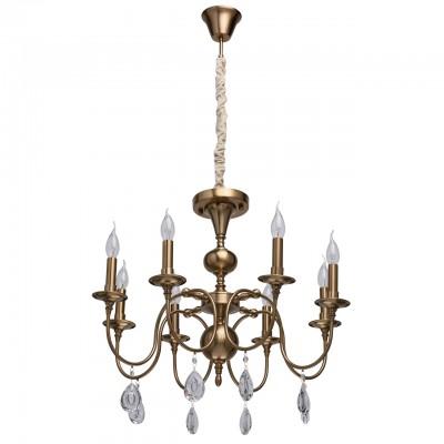 Светильник Mw-light 614011308Подвесные<br><br><br>S освещ. до, м2: 16<br>Тип лампы: накаливания / энергосбережения / LED-светодиодная<br>Тип цоколя: E14<br>Количество ламп: 8<br>Диаметр, мм мм: 640<br>Высота, мм: 970<br>MAX мощность ламп, Вт: 40