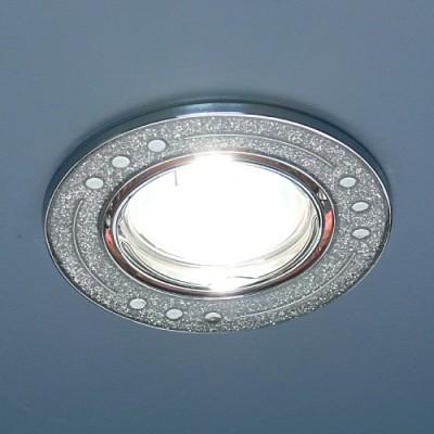 615A SH SL (серебро блеск/хром) Электростандарт Точечный светильникКруглые<br>Лампа: MR16 G5.3 max 50 Вт Диаметр: #216; 88 мм Высота внутренней части: ? 22 мм Высота внешней части: ? 5 мм Монтажное отверстие: #216; 75 мм Гарантия: 2 года Светильник имеет поворотный механизм<br><br>S освещ. до, м2: 3<br>Тип лампы: галогенная<br>Тип цоколя: gu5.3<br>Цвет арматуры: серебристый<br>Количество ламп: 1<br>Диаметр, мм мм: 85<br>Диаметр врезного отверстия, мм: 75<br>Оттенок (цвет): серебристный<br>MAX мощность ламп, Вт: 50