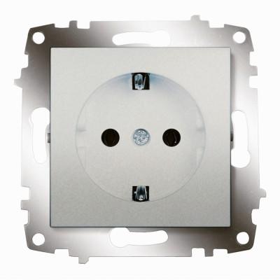 ABB Cosmo Алюминий Розетка с/з (619-011000-217)серия Cosmo ABB<br>ABB Cosmo Алюминий Розетка с заземлением (619-011000-217) является неотъемлемой частью коллекции, важной электротехнической необходимостью в доме и эстетически красивым элементом в концепции всего дизайна помещения. В одной комнате рекомендовано устанавливать розетки и выключатели одного производителя, серии и оттенка для гармоничного сочетания всей электрики.