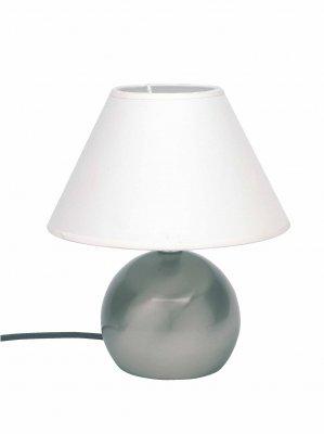 Лампа настольная Brilliant 62447/05 TarifaС абажуром<br>Зачастую мы ищем идеальное освещение для своего дома и уделяем этому достаточно много времени. Так, например, если нам нужен светильник с количеством ламп - 1 и цвет плафонов должен быть - белый, а материал плафонов только текстиль! То нам, как вариант, подойдет модель - лампа настольная Brilliant 62447/05.<br><br>S освещ. до, м2: 2<br>Тип лампы: накал-я - энергосбер-я<br>Тип цоколя: E14<br>Количество ламп: 1<br>MAX мощность ламп, Вт: 40<br>Диаметр, мм мм: 200<br>Высота, мм: 240<br>Цвет арматуры: серебристый