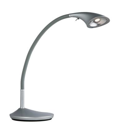 Настольная лампа Mw light 631030201 РакурсСветодиодные<br>Описание модели 631030201: Технологичный вид зональных светильников из коллекции Ракурс отвечает новаторским тенденциям стилей техно и hi-tech. Их можно разместить для дополнительного освещения в гостиных, спальнях и кабинетах, а также использовать в оформлении рабочих пространств в офисах и гостиницах. Хромированный металлический корпус, плавно поворачивающийся в любую сторону, оборудован ярким диодом. На конусообразном плафоне расположен удобный выключатель. Один светильник из коллекции Ракурс способен обеспечить светом пространство до 2-х кв.м.<br><br>S освещ. до, м2: 2<br>Тип лампы: LED - светодиодная<br>Ширина, мм: 300<br>Длина, мм: 180<br>Высота, мм: 470