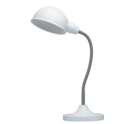 Настольная лампа Mw light 631031001 РакурсОфисные<br>Описание модели 631031001: Создать нужную атмосферу на рабочем столе  или внести яркий акцент в детскую комнату помогут настольные лампы из коллекции Ракурс, выполненные в разнообразных оттенках на любой вкус. Утяжеленное основание лампы и плафон строгой, округлой формы придают ей классическую солидность и надежность. Эластичная трубка, соединяющая плафон с основанием, защищена в зависимости от модели: у цветных светильников – пластиком нейтрального серого цвета, у светильников металлических оттенков гибкая часть в цвет плафона и основания. Плавные, мягко изогнутые линии лампы привнесут в интерьер спокойствие и уют, а ведь именно в этом и состоит одна из главных функций настольных светильников. Солидная классика – вот то определяющее словосочетание, которое как нельзя лучше характеризует лампы из коллекции Ракурс. Их  площадь освещения порядка 2 кв.м.<br><br>S освещ. до, м2: 2<br>Тип лампы: накаливания / энергосберегающая / светодиодная<br>Тип цоколя: E27<br>Количество ламп: 1<br>Ширина, мм: 300<br>MAX мощность ламп, Вт: 40<br>Длина, мм: 350<br>Высота, мм: 450<br>Поверхность арматуры: матовый<br>Цвет арматуры: серый<br>Общая мощность, Вт: 40