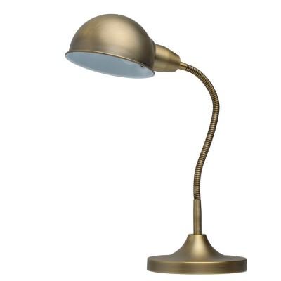 Настольная лампа Mw light 631031101 РакурсОфисные<br>Описание модели 631031101: Создать нужную атмосферу на рабочем столе  или внести яркий акцент в детскую комнату помогут настольные лампы из коллекции Ракурс, выполненные в разнообразных оттенках на любой вкус. Утяжеленное основание лампы и плафон строгой, округлой формы придают ей классическую солидность и надежность. Эластичная трубка, соединяющая плафон с основанием, защищена в зависимости от модели: у цветных светильников – пластиком нейтрального серого цвета, у светильников металлических оттенков гибкая часть в цвет плафона и основания. Плавные, мягко изогнутые линии лампы привнесут в интерьер спокойствие и уют, а ведь именно в этом и состоит одна из главных функций настольных светильников. Солидная классика – вот то определяющее словосочетание, которое как нельзя лучше характеризует лампы из коллекции Ракурс. Их  площадь освещения порядка 2 кв.м.<br><br>S освещ. до, м2: 2<br>Тип лампы: накаливания / энергосберегающая / светодиодная<br>Тип цоколя: E27<br>Цвет арматуры: бронзовый<br>Количество ламп: 1<br>Ширина, мм: 300<br>Длина, мм: 350<br>Высота, мм: 450<br>Поверхность арматуры: матовый<br>MAX мощность ламп, Вт: 40<br>Общая мощность, Вт: 40