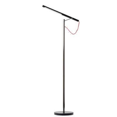 Торшер напольный Mw light 631040701 РакурсХай-тек<br>Описание модели 631040701: Светодиодные светильники из коллекции Ракурс привлекают внимание своим минималистичным дизайном.  Основание из металла цвета хром + черный, современные светодиодные лампы  - будут гармонично смотреться в обстановке в стиле хай-тек. Выраженная функциональность светильников является их безусловным достоинством, а красные контрастные провода,  как единственная яркая деталь,  дополняет  строгую простоту линий и форм.<br><br>S освещ. до, м2: 3<br>Цветовая t, К: 4000 K<br>Тип лампы: LED - светодиодная<br>Тип цоколя: LED<br>Количество ламп: 1<br>Ширина, мм: 250<br>MAX мощность ламп, Вт: 7<br>Длина, мм: 540<br>Высота, мм: 1370<br>Поверхность арматуры: глянцевый<br>Цвет арматуры: серебристый<br>Общая мощность, Вт: 7