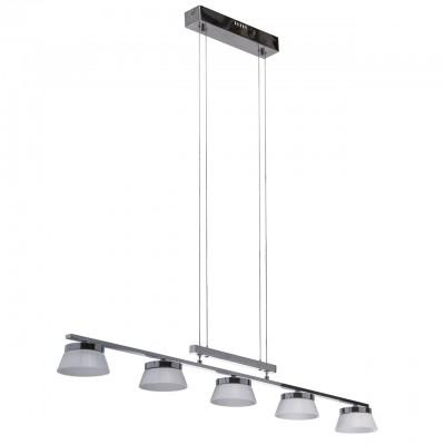 Светильник Mw-light 632014005Длинные 4+<br>632014005 - это Лаконичный и универсальный зональный светильник из коллекции «Гэлэкси» - находка для любителей современного стиля в интерьере. Глянцевый блеск хромированного основания из металла гармонично смотрится в тандеме с источником света – пяти абажуров со светодиодной лентой. Они выполнены в виде сочетания алюминия и матово-белого акрила в форме плафонов цилиндрической формы. Модель оснащена универсальным ручным лифтом в виде планки, благодаря чему можно легко регулировать высоту подвесов, видоизменяя светильник и высоту подсветки.<br><br>S освещ. до, м2: 9,3<br>Тип лампы: LED - светодиодная<br>Тип цоколя: LED<br>Количество ламп: 5<br>Ширина, мм: 115<br>Длина цепи/провода, мм: 2540<br>Длина, мм: 1100<br>Высота, мм: 2700<br>MAX мощность ламп, Вт: 5