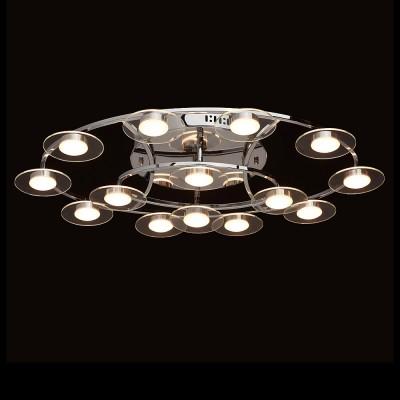 Mw light 632014814 СветильникПотолочные<br><br><br>Установка на натяжной потолок: Да<br>S освещ. до, м2: 17<br>Цветовая t, К: 3000<br>Тип лампы: LED<br>Тип цоколя: LED<br>Цвет арматуры: серебристый<br>Количество ламп: 14<br>Ширина, мм: 460<br>Длина, мм: 730<br>Высота, мм: 150<br>MAX мощность ламп, Вт: 3