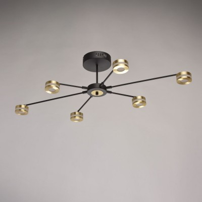 632015206 Regenbogen Life СветильникПотолочные<br><br><br>Установка на натяжной потолок: Да<br>S освещ. до, м2: 14<br>Тип лампы: LED<br>Диаметр, мм мм: 980<br>Высота, мм: 230