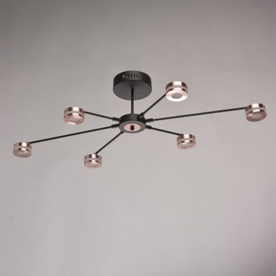 632015306 Regenbogen Life СветильникПотолочные<br><br><br>Установка на натяжной потолок: Да<br>S освещ. до, м2: 14<br>Тип лампы: LED<br>Диаметр, мм мм: 980<br>Высота, мм: 230