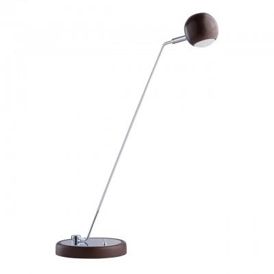 Светильник Mw-light 632032401Светодиодные<br>632032401 - это Стильное сочетание разных фактур и интересных форм отличают светильник из коллекции «Гэлэкси». Основание из дерева гевеи цвета темного кофе дополнено декоративной хромированной пластиной из металла. Под стать – необычный миниатюрный плафон, также выполненный из дерева гевеи в цвет основания. Светильник весьма удобен в использовании: можно легко регулировать угол светового потока, а источники света в виде светодиодов обеспечивают комфортное освещение как для работы, так и для отдыха.<br><br>S освещ. до, м2: 1,86<br>Тип лампы: LED - светодиодная<br>Тип цоколя: LED<br>Количество ламп: 1<br>Ширина, мм: 420<br>MAX мощность ламп, Вт: 5<br>Высота, мм: 480