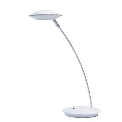 Настольная лампа Mw light 632032901 ГэлэксиХай тек<br>Описание модели 632032901: Простой лаконичный дизайн – не единственное достоинство настольных ламп из коллекции «Гэлэкси». Этот современный светильник выполнен в трех цветовых вариациях: белый, салатовый и цвет сатинового никеля – что позволяет подобрать оттенок под любой интерьер. Минимализм, функциональность и яркие сочетания – все это в настольных лампах из коллекции «Гэлэкси».<br><br>S освещ. до, м2: 1<br>Тип лампы: LED - светодиодная<br>Тип цоколя: LED<br>Количество ламп: 1<br>Ширина, мм: 320<br>Длина, мм: 160<br>Высота, мм: 430<br>MAX мощность ламп, Вт: 5