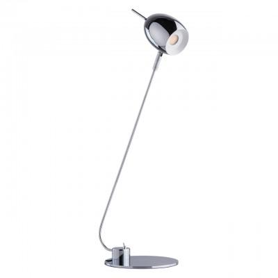 Светильник Mw-light 632033301Хай тек<br>632033301 - это Любителям современных, динамичных решений в интерьере идеально подойдет светильник из коллекции Гэлэкси. Простой, продуманный, без лишних деталей – завершенный и строгий дизайн. Основание и плафон сделаны из металла цвета хрома. Гладкий, с космическим блеском, такой оттенок удачно впишется в любой интерьер, а система спота, которой оснащен плафон, позволит создать нужные световые акценты.<br><br>S освещ. до, м2: 1,86<br>Тип лампы: LED - светодиодная.<br>Тип цоколя: LED<br>Количество ламп: 1<br>Ширина, мм: 250<br>MAX мощность ламп, Вт: 5<br>Высота, мм: 580