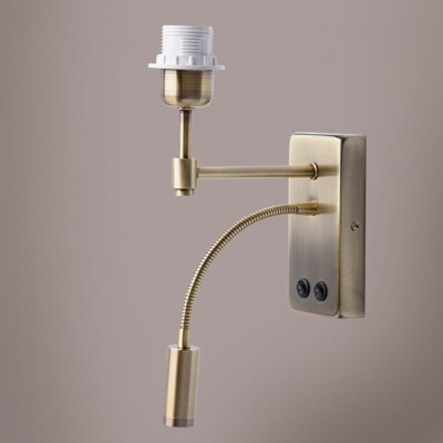 Светильник De markt 634021602Современные<br><br><br>Тип лампы: Накаливания / энергосбережения / светодиодная<br>Тип цоколя: E27<br>Количество ламп: 1<br>Ширина, мм: 70<br>MAX мощность ламп, Вт: 60<br>Длина, мм: 200<br>Высота, мм: 240<br>Цвет арматуры: латунь