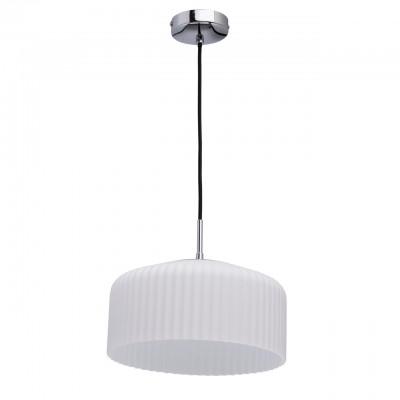 Светильник Mw-light 636011302Одиночные<br>636011302 - это Минималистичный дизайн, простота форм и гармония цвета отличают светильники из коллекции «Раунд». Основание из металла белого цвета дополнено белым матовым стеклянным плафоном. Его оригинальная рельефная форма придает дизайну особую изюминку. Светильник обеспечивает мягкое распределение света, благодаря чему в комнате воцарится уютная атмосфера.<br><br>S освещ. до, м2: 4<br>Тип лампы: накаливания / энергосбережения / LED-светодиодная<br>Тип цоколя: E27<br>Количество ламп: 2<br>MAX мощность ламп, Вт: 40<br>Диаметр, мм мм: 290<br>Длина цепи/провода, мм: 910<br>Высота, мм: 1180