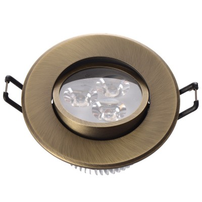 Светильник светодиодный Mw light 637012203 КрузКруглые<br>Описание модели 637012203: Разнообразная линейка встраиваемых светильников из коллекции Круз удовлетворит любые покупательские запросы. Корпус светильника выполнен из алюминия, осветительные элементы - светодиоды.  Говоря о технических характеристиках, стоит отметить, возможность самостоятельно регулировать положение внутренней части светильника, тем самым меняя направление светового потока и моделируя освещение в комнате на свой вкус. Светильники из коллекции Круз функциональны и уместны в любом интерьере, за счет разнообразия диаметров,  богатой цветовой палитры трендовых оттенков. Рекомендуемая площадь освещения одного встраиваемого светильника Круз порядка 1 кв.м.<br><br>S освещ. до, м2: 1<br>Тип лампы: накаливания / энергосберегающая / светодиодная<br>Тип цоколя: LED<br>Количество ламп: 3<br>MAX мощность ламп, Вт: 1<br>Диаметр, мм мм: 90<br>Высота, мм: 52<br>Поверхность арматуры: глянцевый<br>Цвет арматуры: бронзовый<br>Общая мощность, Вт: 3