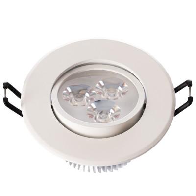 Светильник светодиодный Mw light 637012403 КрузКруглые LED<br>Описание модели 637012403: Разнообразная линейка встраиваемых светильников из коллекции Круз удовлетворит любые покупательские запросы. Корпус светильника выполнен из алюминия, осветительные элементы - светодиоды.  Говоря о технических характеристиках, стоит отметить, возможность самостоятельно регулировать положение внутренней части светильника, тем самым меняя направление светового потока и моделируя освещение в комнате на свой вкус. Светильники из коллекции Круз функциональны и уместны в любом интерьере, за счет разнообразия диаметров,  богатой цветовой палитры трендовых оттенков. Рекомендуемая площадь освещения одного встраиваемого светильника Круз порядка 1 кв.м.<br><br>S освещ. до, м2: 1<br>Тип лампы: накаливания / энергосберегающая / светодиодная<br>Количество ламп: 3<br>Диаметр, мм мм: 90<br>Высота, мм: 52<br>Поверхность арматуры: матовый<br>Цвет арматуры: белый<br>Общая мощность, Вт: 3