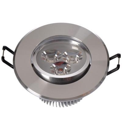 Светильник светодиодный Mw light 637012703 КрузКруглые LED<br>Описание модели 637012703: Разнообразная линейка встраиваемых светильников из коллекции Круз удовлетворит любые покупательские запросы. Корпус светильника выполнен из алюминия, осветительные элементы - светодиоды.  Говоря о технических характеристиках, стоит отметить, возможность самостоятельно регулировать положение внутренней части светильника, тем самым меняя направление светового потока и моделируя освещение в комнате на свой вкус. Светильники из коллекции Круз функциональны и уместны в любом интерьере, за счет разнообразия диаметров,  богатой цветовой палитры трендовых оттенков. Рекомендуемая площадь освещения одного встраиваемого светильника Круз порядка 1 кв.м.<br><br>S освещ. до, м2: 1<br>Тип лампы: накаливания / энергосберегающая / светодиодная<br>Тип цоколя: LED<br>Количество ламп: 3<br>MAX мощность ламп, Вт: 1<br>Диаметр, мм мм: 90<br>Высота, мм: 52<br>Поверхность арматуры: глянцевый<br>Цвет арматуры: серебристый<br>Общая мощность, Вт: 3
