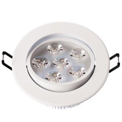Светильник светодиодный Mw light 637012806 КрузКруглые LED<br>Описание модели 637012806: Разнообразная линейка встраиваемых светильников из коллекции Круз удовлетворит любые покупательские запросы. Корпус светильника выполнен из алюминия, осветительные элементы - светодиоды.  Говоря о технических характеристиках, стоит отметить, возможность самостоятельно регулировать положение внутренней части светильника, тем самым меняя направление светового потока и моделируя освещение в комнате на свой вкус. Светильники из коллекции Круз функциональны и уместны в любом интерьере, за счет разнообразия диаметров,  богатой цветовой палитры трендовых оттенков. Рекомендуемая площадь освещения одного встраиваемого светильника Круз порядка 1 кв.м.<br><br>S освещ. до, м2: 2<br>Тип лампы: накаливания / энергосберегающая / светодиодная<br>Тип цоколя: LED<br>Количество ламп: 6<br>MAX мощность ламп, Вт: 1<br>Диаметр, мм мм: 109<br>Высота, мм: 53<br>Поверхность арматуры: матовый<br>Цвет арматуры: белый<br>Общая мощность, Вт: 6