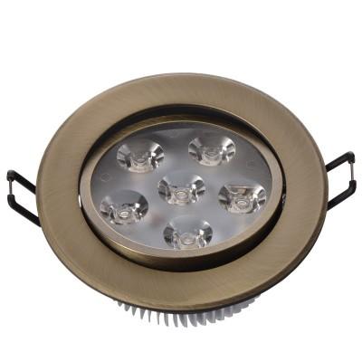 Светильник светодиодный Mw light 637013106 КрузКруглые LED<br>Описание модели 637013106: Разнообразная линейка встраиваемых светильников из коллекции Круз удовлетворит любые покупательские запросы. Корпус светильника выполнен из алюминия, осветительные элементы - светодиоды.  Говоря о технических характеристиках, стоит отметить, возможность самостоятельно регулировать положение внутренней части светильника, тем самым меняя направление светового потока и моделируя освещение в комнате на свой вкус. Светильники из коллекции Круз функциональны и уместны в любом интерьере, за счет разнообразия диаметров,  богатой цветовой палитры трендовых оттенков. Рекомендуемая площадь освещения одного встраиваемого светильника Круз порядка 1 кв.м.<br><br>S освещ. до, м2: 2<br>Тип товара: Светильник светодиодный<br>Тип лампы: накаливания / энергосберегающая / светодиодная<br>Тип цоколя: LED<br>Количество ламп: 6<br>MAX мощность ламп, Вт: 1<br>Диаметр, мм мм: 106<br>Высота, мм: 53<br>Цвет арматуры: бронзовый<br>Общая мощность, Вт: 6