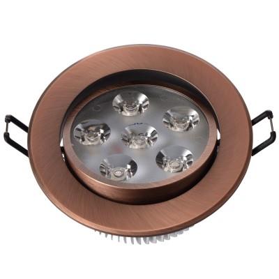 Светильник светодиодный Mw light 637013206 КрузКруглые LED<br>Описание модели 637013206: Разнообразная линейка встраиваемых светильников из коллекции Круз удовлетворит любые покупательские запросы. Корпус светильника выполнен из алюминия, осветительные элементы - светодиоды.  Говоря о технических характеристиках, стоит отметить, возможность самостоятельно регулировать положение внутренней части светильника, тем самым меняя направление светового потока и моделируя освещение в комнате на свой вкус. Светильники из коллекции Круз функциональны и уместны в любом интерьере, за счет разнообразия диаметров,  богатой цветовой палитры трендовых оттенков. Рекомендуемая площадь освещения одного встраиваемого светильника Круз порядка 1 кв.м.<br><br>S освещ. до, м2: 2<br>Тип лампы: накаливания / энергосберегающая / светодиодная<br>Тип цоколя: LED<br>Цвет арматуры: медный<br>Количество ламп: 6<br>Диаметр, мм мм: 109<br>Высота, мм: 53<br>Поверхность арматуры: глянцевый<br>MAX мощность ламп, Вт: 1<br>Общая мощность, Вт: 6