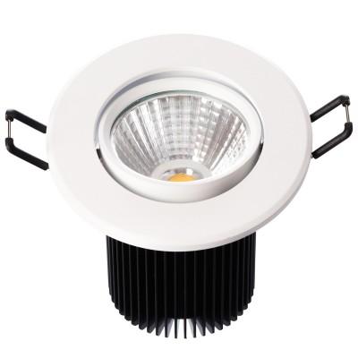 Светильник светодиодный Mw light 637013701 КрузСветодиодные круглые светильники<br>Описание модели 637013701: Разнообразная линейка встраиваемых светильников из коллекции Круз удовлетворит любые покупательские запросы. Корпус светильника выполнен из алюминия, осветительные элементы - светодиоды.  Говоря о технических характеристиках, стоит отметить, возможность самостоятельно регулировать положение внутренней части светильника, тем самым меняя направление светового потока и моделируя освещение в комнате на свой вкус. Светильники из коллекции Круз функциональны и уместны в любом интерьере, за счет разнообразия диаметров,  богатой цветовой палитры трендовых оттенков. Рекомендуемая площадь освещения одного встраиваемого светильника Круз порядка 1 кв.м.<br><br>S освещ. до, м2: 2<br>Тип лампы: светодиодная<br>Тип цоколя: LED<br>Цвет арматуры: белый<br>Количество ламп: 1<br>Диаметр, мм мм: 90<br>Высота, мм: 85<br>Поверхность арматуры: матовый<br>MAX мощность ламп, Вт: 7<br>Общая мощность, Вт: 7