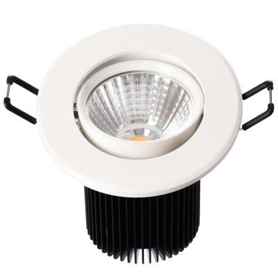 Светильник светодиодный Mw light 637013801 КрузКруглые LED<br>Описание модели 637013801: Разнообразная линейка встраиваемых светильников из коллекции Круз удовлетворит любые покупательские запросы. Корпус светильника выполнен из алюминия, осветительные элементы - светодиоды.  Говоря о технических характеристиках, стоит отметить, возможность самостоятельно регулировать положение внутренней части светильника, тем самым меняя направление светового потока и моделируя освещение в комнате на свой вкус. Светильники из коллекции Круз функциональны и уместны в любом интерьере, за счет разнообразия диаметров,  богатой цветовой палитры трендовых оттенков. Рекомендуемая площадь освещения одного встраиваемого светильника Круз порядка 1 кв.м.<br><br>S освещ. до, м2: 2<br>Тип товара: Светильник светодиодный<br>Тип лампы: накаливания / энергосберегающая / светодиодная<br>Тип цоколя: LED<br>Количество ламп: 1<br>MAX мощность ламп, Вт: 7<br>Диаметр, мм мм: 90<br>Высота, мм: 85<br>Поверхность арматуры: матовый<br>Цвет арматуры: белый<br>Общая мощность, Вт: 7