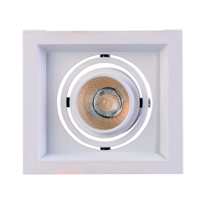 Светильник Mw-light 637016101Карданные<br><br><br>Тип лампы: LED<br>Тип цоколя: LED<br>Цвет арматуры: белый<br>Количество ламп: 1<br>Ширина, мм: 110<br>Длина, мм: 110<br>Высота, мм: 100