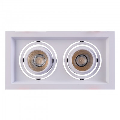 Светильник Mw-light 637016202Карданные светильники<br><br><br>Цветовая t, К: 3000<br>Тип лампы: LED<br>Цвет арматуры: белый<br>Количество ламп: 2<br>Ширина, мм: 210<br>Длина, мм: 110<br>Высота, мм: 100<br>MAX мощность ламп, Вт: 7