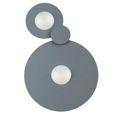Светильник Mw light 637017702светодиодные споты<br>Современный светильник привлекает своим оригинальным дизайном. Его основание и необычные плафоны выполнены в виде плоских металлических дисков в двух оттенках – трендовом графитовом и белом. В качестве источников света выступают надежные светодиоды, скрытые под вставкой из матового акрила. Благодаря такому решению свет получается более мягким и слегка рассеянным. Модель можно использовать как в качестве потолочного, так и в качестве настенного светильника.<br><br>S освещ. до, м2: 9.3<br>Тип лампы: LED<br>Тип цоколя: LED<br>Цвет арматуры: Серый<br>Количество ламп: 2<br>Ширина, мм: 220<br>Длина, мм: 350<br>Высота, мм: 35<br>Поверхность арматуры: матовая<br>Оттенок (цвет): серый<br>MAX мощность ламп, Вт: 10