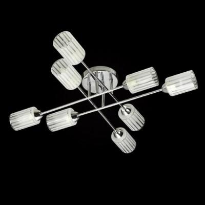 Люстра De markt 638012008 Олимпиясовременные потолочные люстры модерн<br>Компания «Светодом» предлагает широкий ассортимент люстр от известных производителей. Представленные в нашем каталоге товары выполнены из современных материалов и обладают отличным качеством. Благодаря широкому ассортименту Вы сможете найти у нас люстру под любой интерьер. Мы предлагаем как классические варианты, так и современные модели, отличающиеся лаконичностью и простотой форм.  Стильная люстра De Markt 638012008 станет украшением любого дома. Эта модель от известного производителя не оставит равнодушным ценителей красивых и оригинальных предметов интерьера. Люстра De Markt 638012008 обеспечит равномерное распределение света по всей комнате. При выборе обратите внимание на характеристики, позволяющие приобрести наиболее подходящую модель. Купить понравившуюся люстру по доступной цене Вы можете в интернет-магазине «Светодом».<br><br>Установка на натяжной потолок: Ограничено<br>S освещ. до, м2: 24<br>Крепление: Планка<br>Тип лампы: Накаливания / энергосбережения / светодиодная<br>Тип цоколя: E14<br>Цвет арматуры: серебристый<br>Количество ламп: 8<br>Диаметр, мм мм: 820<br>Высота, мм: 160<br>MAX мощность ламп, Вт: 60