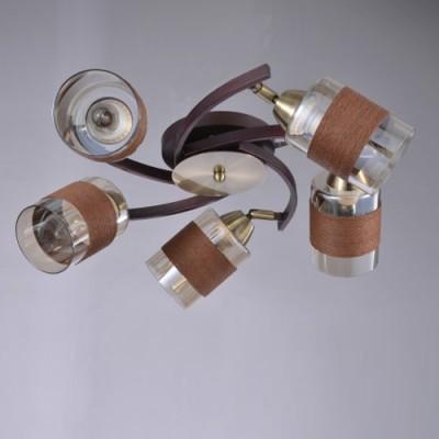Светильник De Markt 638012705Поворотные<br>Компания «Светодом» предлагает широкий ассортимент люстр от известных производителей. Представленные в нашем каталоге товары выполнены из современных материалов и обладают отличным качеством. Благодаря широкому ассортименту Вы сможете найти у нас люстру под любой интерьер. Мы предлагаем как классические варианты, так и современные модели, отличающиеся лаконичностью и простотой форм.  Стильная люстра De Markt 638012705 станет украшением любого дома. Эта модель от известного производителя не оставит равнодушным ценителей красивых и оригинальных предметов интерьера. Люстра De Markt 638012705 обеспечит равномерное распределение света по всей комнате. При выборе обратите внимание на характеристики, позволяющие приобрести наиболее подходящую модель. Купить понравившуюся люстру по доступной цене Вы можете в интернет-магазине «Светодом».<br><br>Установка на натяжной потолок: Ограничено<br>S освещ. до, м2: 15<br>Тип лампы: Накаливания / энергосбережения / светодиодная<br>Тип цоколя: E14<br>Количество ламп: 5<br>Диаметр, мм мм: 600<br>Высота, мм: 150<br>MAX мощность ламп, Вт: 60