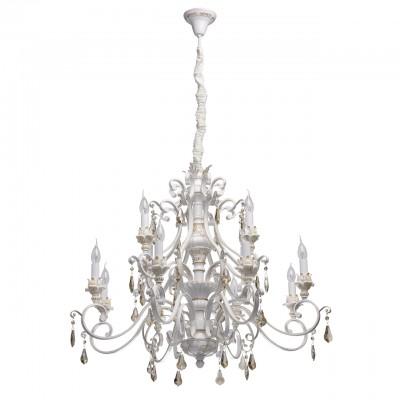 Светильник Chiaro 639012712люстры подвесные классические<br><br><br>S освещ. до, м2: 24<br>Тип лампы: накаливания / энергосбережения / LED-светодиодная<br>Тип цоколя: E14<br>Цвет арматуры: белый/золотой<br>Количество ламп: 12<br>Диаметр, мм мм: 970<br>Высота, мм: 2820<br>MAX мощность ламп, Вт: 40