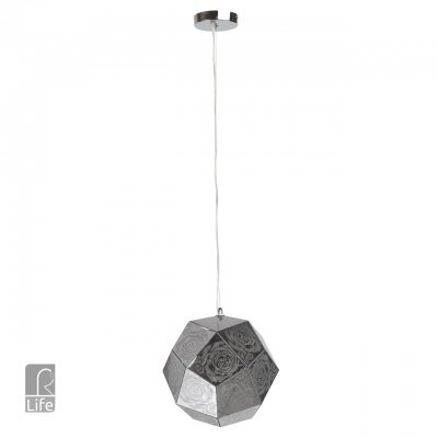 Светильник потолочный Regenbogen life 643010301 Кассель/KasselОдиночные<br>Описание модели 643010301: Мозаичная конструкция светильника из коллекции Кассель является его индивидуальной особенностью и стильным дизайнерским решением. Потоки световых лучей, струящиеся через перфорированный абажур, размещенный на регулируемом подвесе, мягко освещают окружающее пространство. Композицией из нескольких сферических светильников из коллекции Кассель можно стильно украсить интерьерную зону в квартире, офисе или ресторане, где необходимо передать атмосферу творческого поиска и концептуального дизайна.<br><br>S освещ. до, м2: 3<br>Тип лампы: Накаливания / энергосбережения / светодиодная<br>Тип цоколя: E27<br>Количество ламп: 1<br>MAX мощность ламп, Вт: 60<br>Диаметр, мм мм: 330<br>Длина цепи/провода, мм: 750<br>Высота, мм: 1070<br>Цвет арматуры: серебристый хром