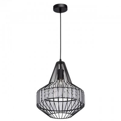 Mw light 643012201 Люстраодиночные подвесные светильники<br><br><br>Тип лампы: Накаливания / энергосбережения / светодиодная<br>Тип цоколя: E27<br>Цвет арматуры: черный<br>Количество ламп: 1<br>Диаметр, мм мм: 310<br>Высота, мм: 1590<br>MAX мощность ламп, Вт: 60