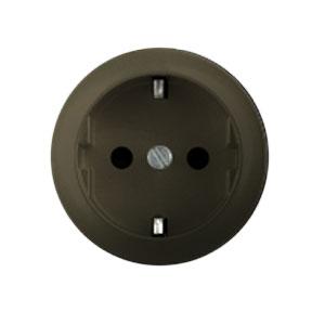 Накладка для розетки 2Р+Е с винтовыми клеммами графит Celiane (Legrand) 64952Графит <br><br><br>Оттенок (цвет): серый