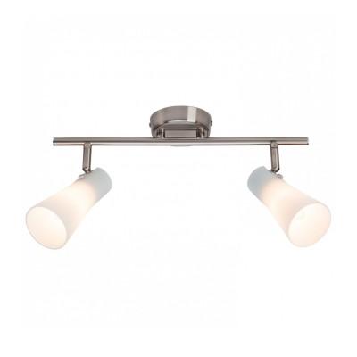 Светильник потолочный Brilliant 65013/77 FuroreДвойные<br><br><br>Тип товара: Светильник поворотный спот<br>Тип лампы: Накаливания / энергосбережения / светодиодная<br>Тип цоколя: E14<br>Количество ламп: 2<br>Ширина, мм: 90<br>MAX мощность ламп, Вт: 40<br>Длина, мм: 380<br>Высота, мм: 220<br>Цвет арматуры: серебристый