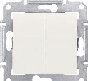 SE Sedna Беж Выключатель 2-клавишный 10А (сх.5) (SDN0300147)Sedna<br><br><br>Тип товара: Выключатель<br>Оттенок (цвет): бежевый