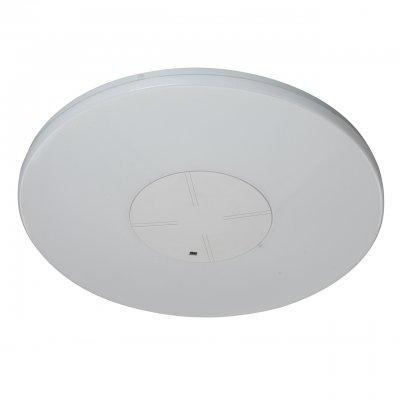 Светильник потолочный Regenbogen life 660011401 Норден/NordenКруглые<br>Описание модели 660011401: Футуристический потолочный светильник, выполненный в стиле техно, способен преобразить освещаемое пространство. Округлой формы с глянцевой акриловой поверхностью, «Норден» не так прост, как кажется. Благодаря микроперфорации плафона, свет диодных ламп превращается в сияние тысяч кристаллов. Светильником можно управлять дистанционно с помощью пульта. В любом помещении дома, будь то спальня, холл или ванная комната, светильник придется к месту. Встроенный диммер дает возможность регулировать температуру и яркость освещения и позволяет использовать его не только для освещения комнаты, но и в качестве ночника. Рекомендуемая площадь освещения – 19 кв.м.<br><br>S освещ. до, м2: 14<br>Крепление: Планка<br>Тип лампы: LED<br>Тип цоколя: LED<br>Диаметр, мм мм: 450<br>Высота, мм: 40<br>Цвет арматуры: белый