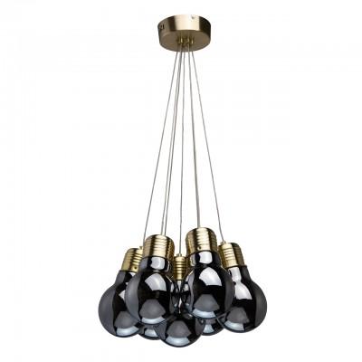 Светильник Regenbogen 663011707подвесные люстры лофт<br><br><br>S освещ. до, м2: 22<br>Цветовая t, К: 4000<br>Тип лампы: LED-светодиодная<br>Тип цоколя: LED<br>Цвет арматуры: бронзовый<br>Количество ламп: 7<br>Диаметр, мм мм: 450<br>Высота, мм: 1150