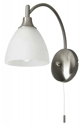 Светильник бра Brilliant G66410/13 EnzioКлассические<br>Зачастую мы ищем идеальное освещение для своего дома и уделяем этому достаточно много времени. Так, например, если нам нужен светильник с количеством ламп - 1 и цвет плафонов должен быть - белый алебастр, а материал плафонов только стекло! То нам, как вариант, подойдет модель - Бра Brilliant G66410/13.<br><br>S освещ. до, м2: 2<br>Тип лампы: накаливания / энергосбережения / LED-светодиодная<br>Тип цоколя: E14<br>Количество ламп: 1<br>Ширина, мм: 120<br>MAX мощность ламп, Вт: 40<br>Диаметр, мм мм: 220<br>Высота, мм: 250<br>Цвет арматуры: серебристый